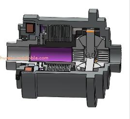 一体式电子电控适时四驱差速器