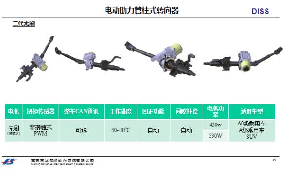 电动助力管柱式转向器2代无刷