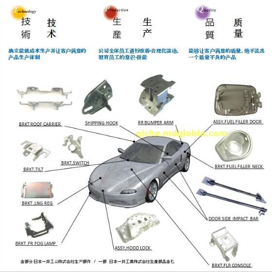 汽车部件及其他钣金部件 焊接组装部件